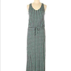 Banana Republic Sleeveless Print Maxi Dress